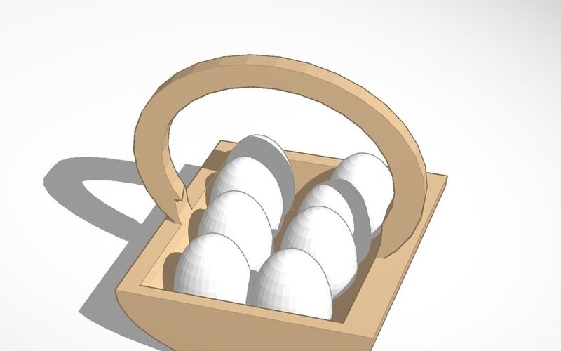 egg basket with eggs 3D Print 14822