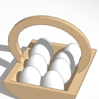Small egg basket with eggs 3D Printing 14822