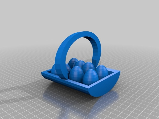 egg basket with eggs 3D Print 14823