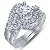 Small Jewelry 3D CAD Model Beautiful Bridal Ring Set 3D Printing 148234