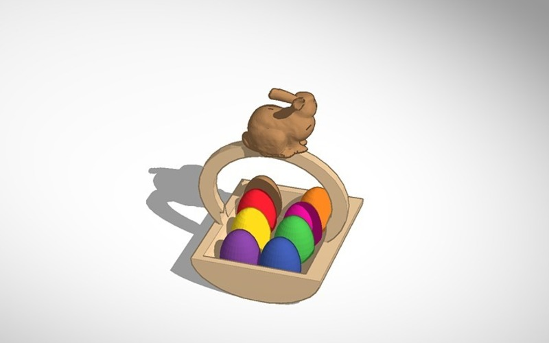 easter egg basket 3D Print 14824