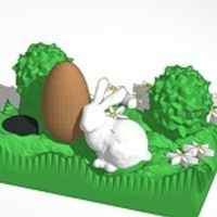 Small the easter bunny smaller 3D Printing 14827