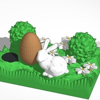 Small the easter bunny 3D Printing 14829