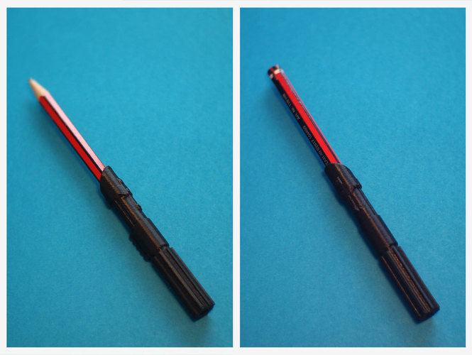 Lightsaber Pencil Extender 3D Print 148301