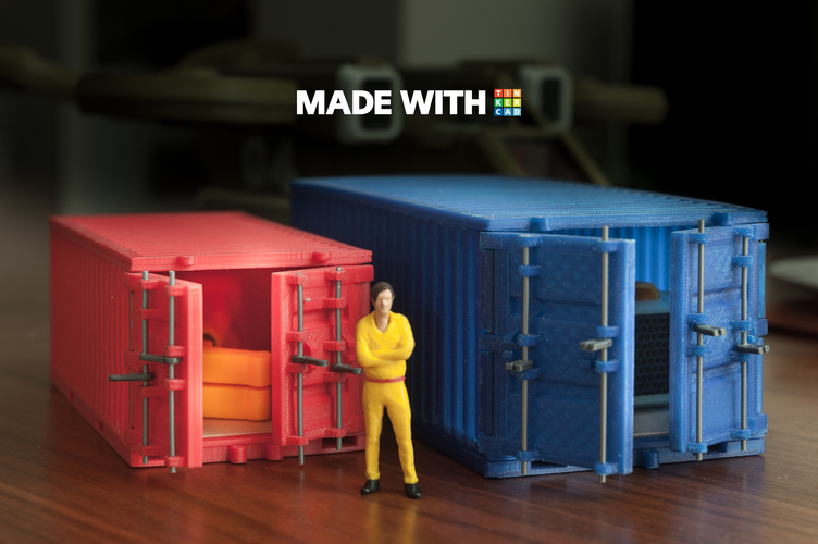 Cargo Container (Large) 3D Print 148322
