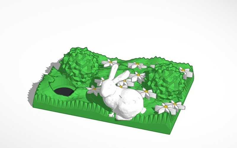 spring bunny with hole 3D Print 14833