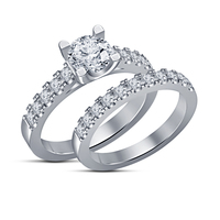 Small Jewelry 3D CAD Model Beautiful Bridal Ring Set 3D Printing 148364