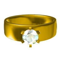 Small Jewelry 3D CAD Model For  Womens  Wedding  Ring 3D Printing 148366