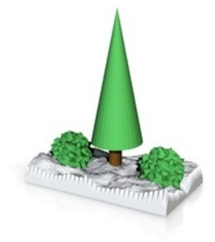 xmas tree in snow 3D Print 14839