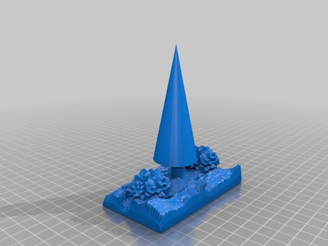 xmas tree in snow 3D Print 14840