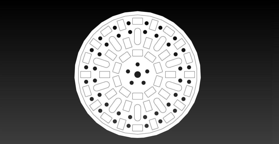 100mm ManHole Cover Coins 3D Print 148447