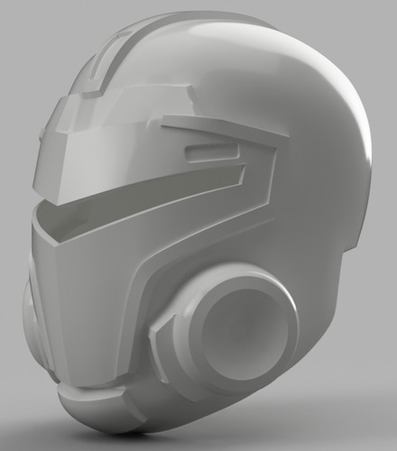Blood Dragon Helmet Mass Effect 2 (With Back Access) 3D Print 148451