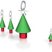 Small xmas tree jewelry set 2 3D Printing 14847