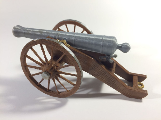 Civil War Field Cannon Model Kit 3D Print 148479