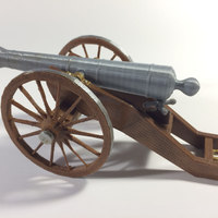 Small Civil War Field Cannon Model Kit 3D Printing 148479