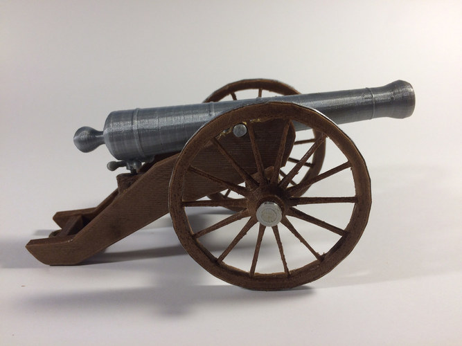 Civil War Field Cannon Model Kit 3D Print 148480