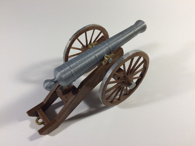 Civil War Field Cannon Model Kit 3D Print 148481