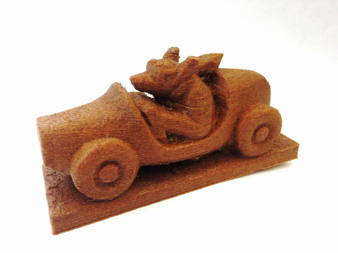 Dog Driving a Sports Car 3D Print 148488