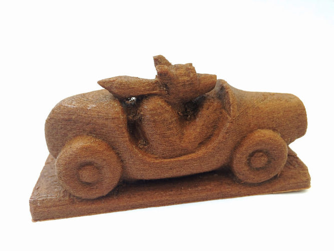 Dog Driving a Sports Car 3D Print 148489