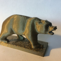 Small Grizzly Bear Statue - University of California Berkeley 3D Printing 148505