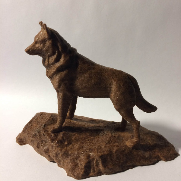 Medium Husky Statue - Michigan Tech 3D Printing 148512