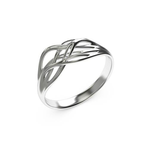 Roots shape ring 3D Print 14860
