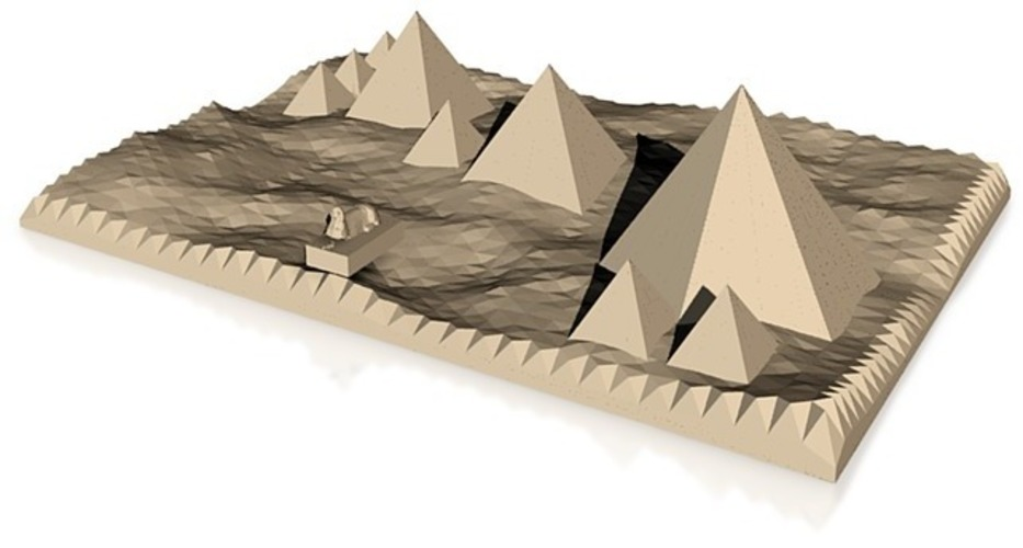accuarate model of pyramids and sphinx of giza 3D Print 14862