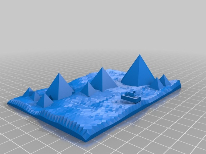 accuarate model of pyramids and sphinx of giza 3D Print 14863