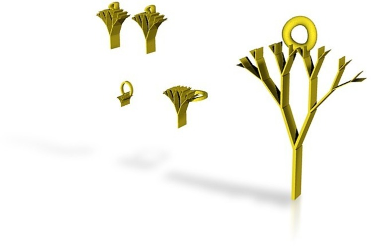 tree of life jewelry set 3D Print 14870