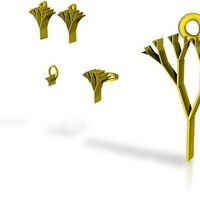 Small tree of life jewelry set 3D Printing 14870