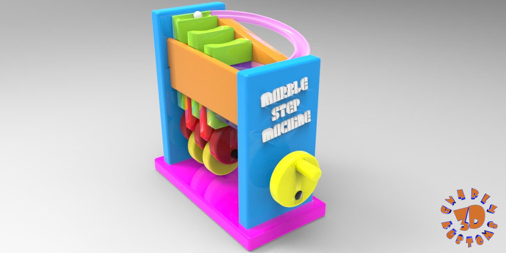 Marble Step Machine (Automata Toy) 3D Print 148712