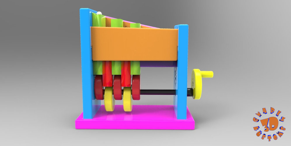 Marble Step Machine (Automata Toy) 3D Print 148713