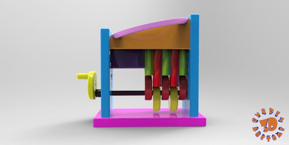 Marble Step Machine (Automata Toy) 3D Print 148715