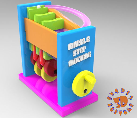 Marble Step Machine (Automata Toy) 3D Print 148719
