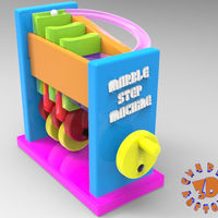 Small Marble Step Machine (Automata Toy) 3D Printing 148719