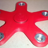 Small Spinner five arms 625 bearing M6 nut 3D Printing 148790