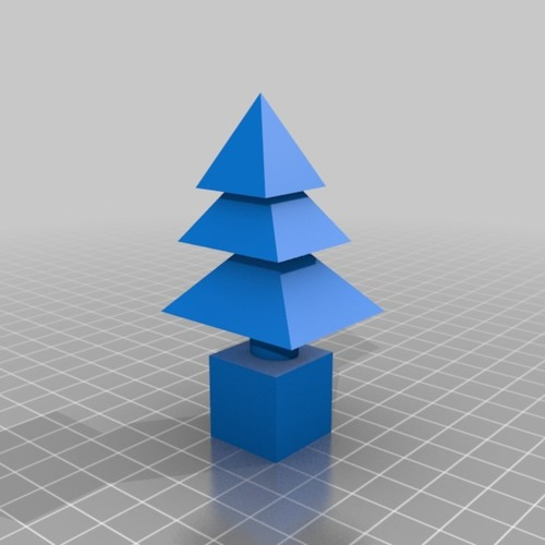 xmas tree jingle bells  X3DB in zip and stl of another tree  3D Print 14884