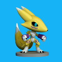 Small Renamon Digimon 3D Printing 148859