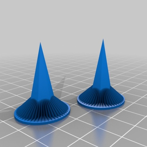 purple spike earrings 3D Print 14888