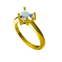 Small 3D CAD Model For Beautiful Heart Engagement Ring 3D Printing 148898