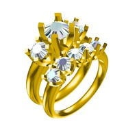 Small 3D Jewelry CAD Model Of Wedding Ring In STL Format 3D Printing 148901