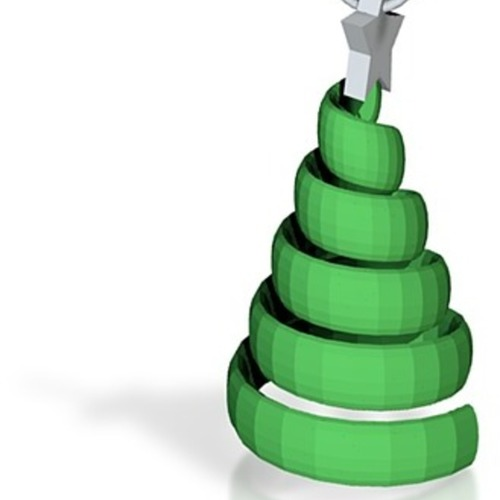 swirl tree pendant/ keyring / tree decoration 3D Print 14893