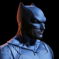 Small Batman justice league cowl v1.2 3D Printing 148942