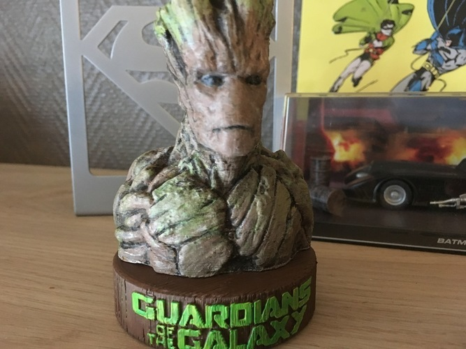Stand for the Groot Bust 3D Print 148947
