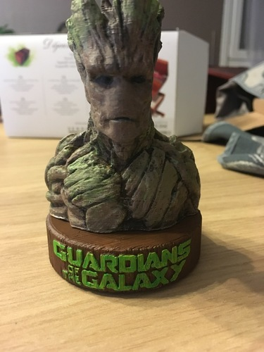Stand for the Groot Bust 3D Print 148948