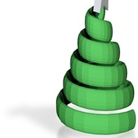 Small swirl xmas trees smaller 3D Printing 14896