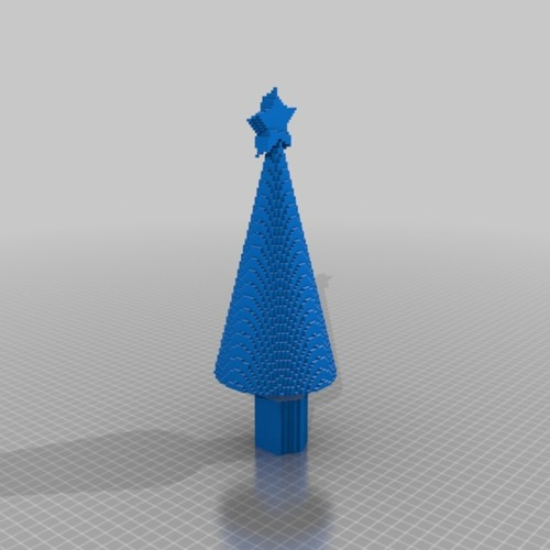 Xmas tree with star 3D Print 14901