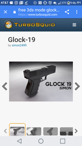 Glock 19 model (does not fire real bullets) 3D Print 149011
