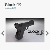 Small Glock 19 model (does not fire real bullets) 3D Printing 149011