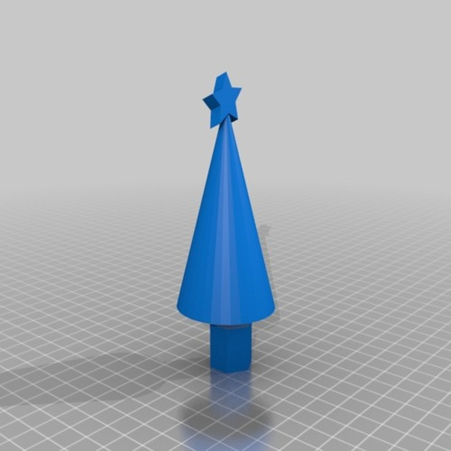 Xmas tree with star 3D Print 14902